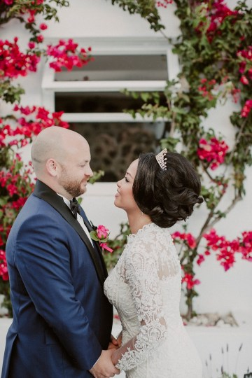Intimate & Luxurious Cliffside Santorini Wedding   Stella and Moscha   Nikos Gogas 14