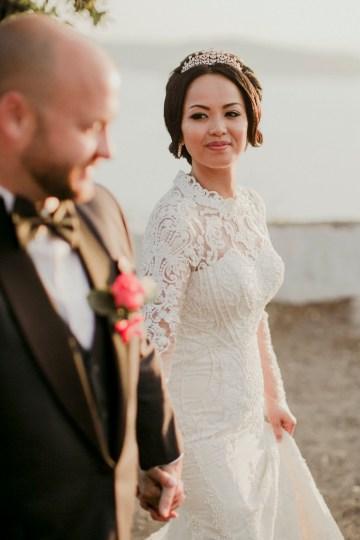 Intimate & Luxurious Cliffside Santorini Wedding   Stella and Moscha   Nikos Gogas 18