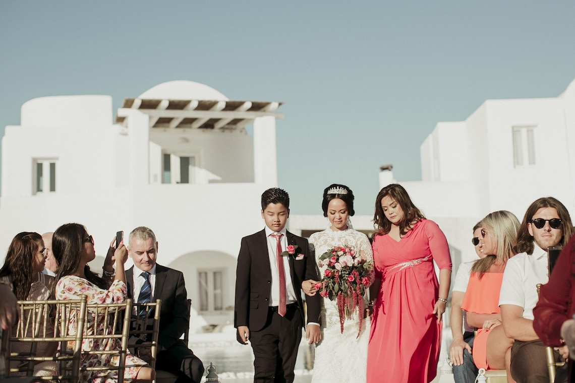 Intimate & Luxurious Cliffside Santorini Wedding | Stella and Moscha | Nikos Gogas 39