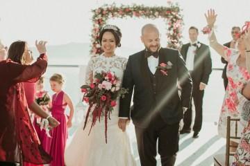 Intimate & Luxurious Cliffside Santorini Wedding   Stella and Moscha   Nikos Gogas 42
