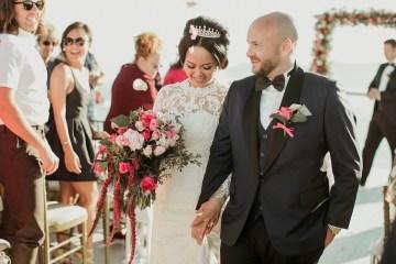 Intimate & Luxurious Cliffside Santorini Wedding   Stella and Moscha   Nikos Gogas 45