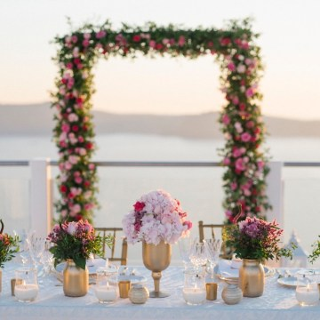 Intimate & Luxurious Cliffside Santorini Wedding | Stella and Moscha | Nikos Gogas 55