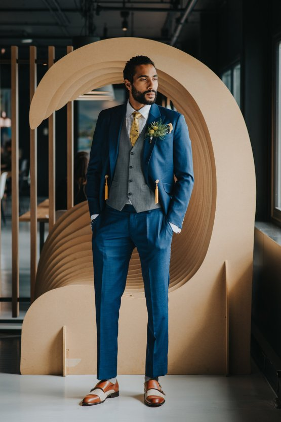 Modern Industrial London Wedding Inspiration With Succulents   Remain in the Light Photography 13