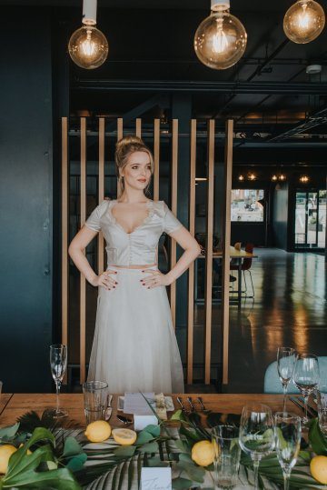Modern Industrial London Wedding Inspiration With Succulents | Remain in the Light Photography 15