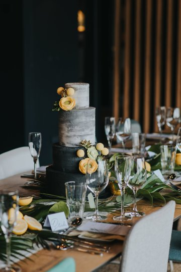 Modern Industrial London Wedding Inspiration With Succulents | Remain in the Light Photography 20