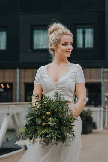 Modern Industrial London Wedding Inspiration With Succulents | Remain in the Light Photography 21
