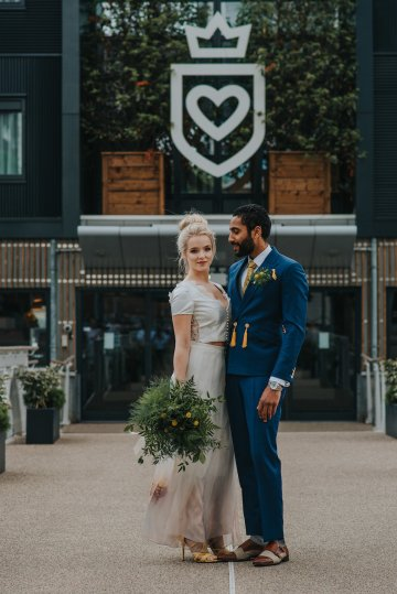 Modern Industrial London Wedding Inspiration With Succulents | Remain in the Light Photography 22