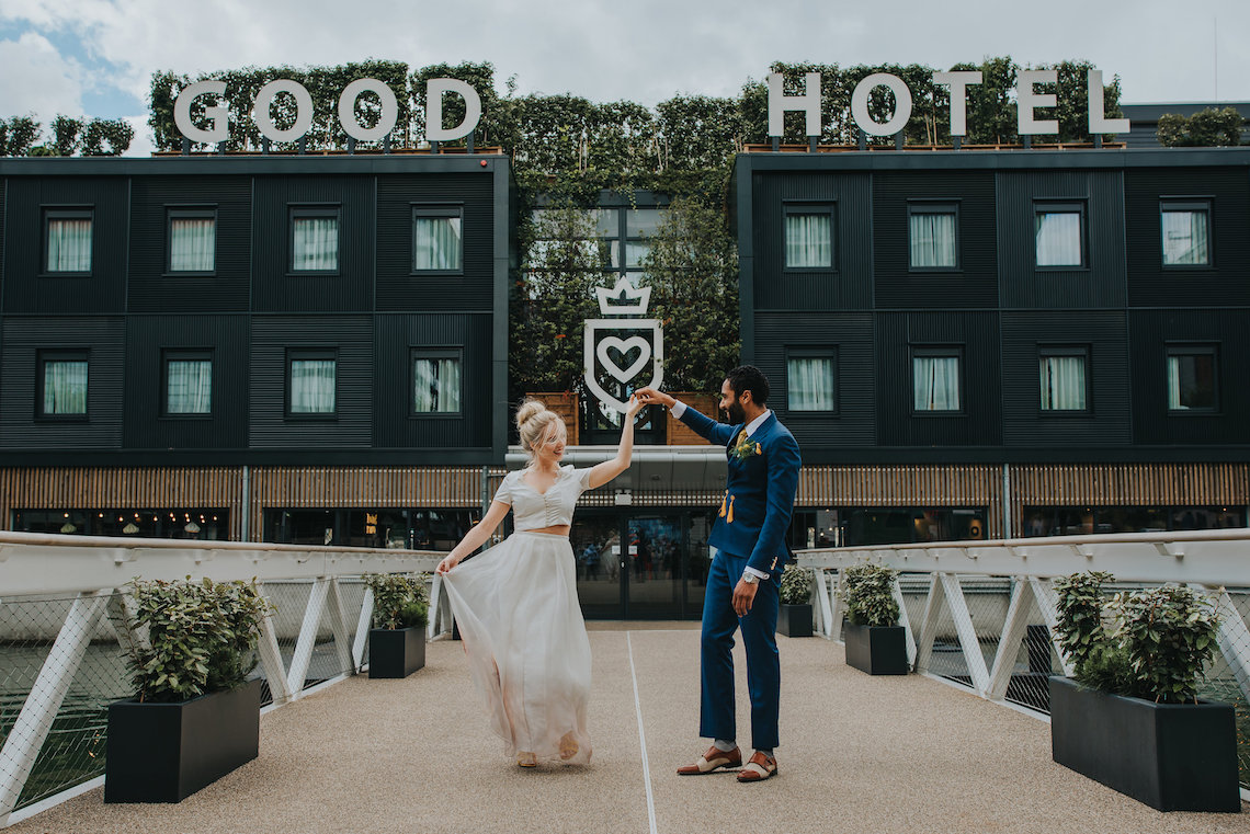 Modern Industrial London Wedding Inspiration With Succulents   Remain in the Light Photography 49