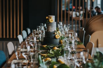 Modern Industrial London Wedding Inspiration With Succulents | Remain in the Light Photography 50