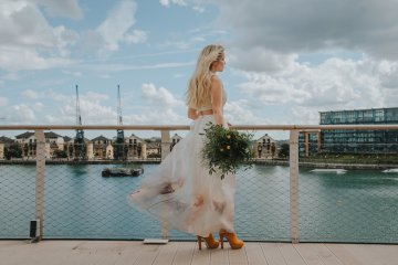 Modern Industrial London Wedding Inspiration With Succulents | Remain in the Light Photography 51