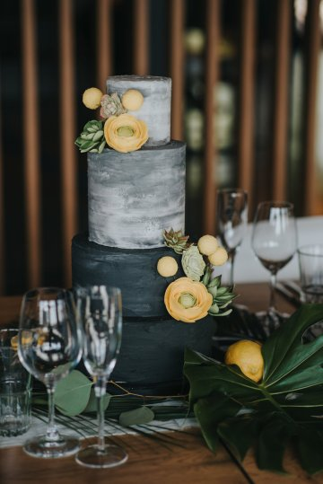 Modern Industrial London Wedding Inspiration With Succulents | Remain in the Light Photography 8