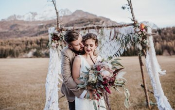 Southwestern Boho Wedding Inspiration In The Swiss Alps