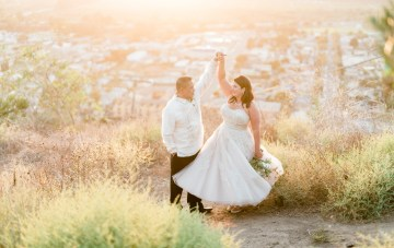 A Sparkling, Rose Gold, Cliffside California Wedding