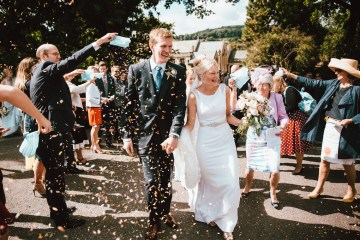 Totally Chic English Wedding With A Sweet Boat Ride   Oak & Blossom 27