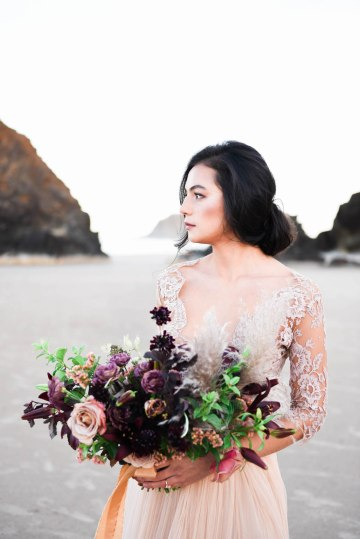 Ethereal Pacific Northwest Beachy Wedding Inspiration   Jessica Lynn Photography 17