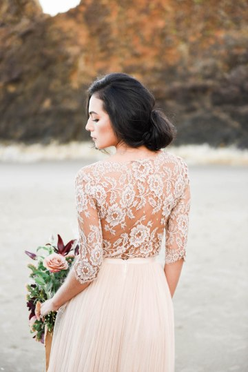 Ethereal Pacific Northwest Beachy Wedding Inspiration | Jessica Lynn Photography 19
