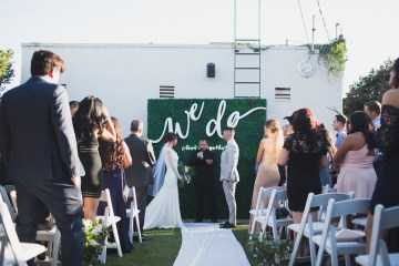 Modern Hip Taco Wedding In A Funky Gallery Venue | Claire Eliza 11
