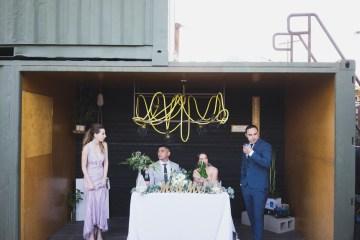 Modern Hip Taco Wedding In A Funky Gallery Venue | Claire Eliza 38
