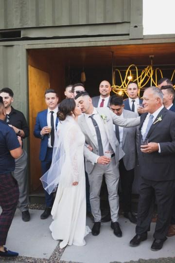 Modern Hip Taco Wedding In A Funky Gallery Venue | Claire Eliza 42