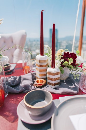 Modern Japanese Inspired Rooftop Wedding Inspiration (With Sushi & Uni, Yum!) | CCL Events | Christine Farah Photography 35