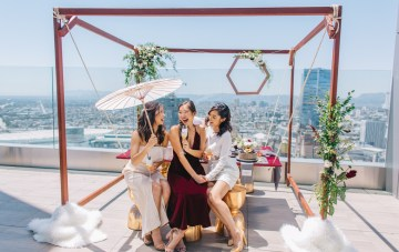 Modern Japanese Inspired Rooftop Wedding Inspiration (With Sushi & Uni, Yum!)