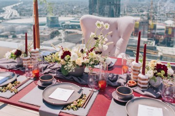 Modern Japanese Inspired Rooftop Wedding Inspiration (With Sushi & Uni, Yum!) | CCL Events | Christine Farah Photography 57