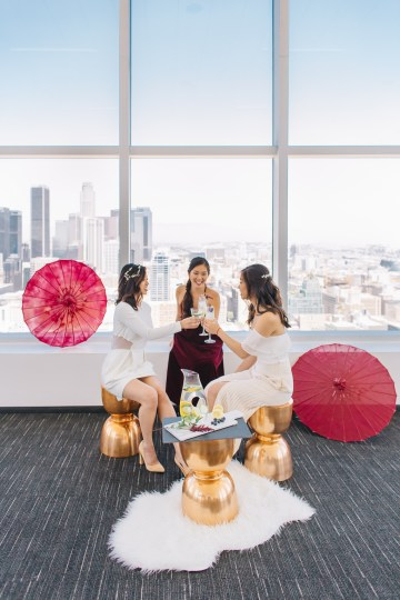 Modern Japanese Inspired Rooftop Wedding Inspiration (With Sushi & Uni, Yum!) | CCL Events | Christine Farah Photography 6