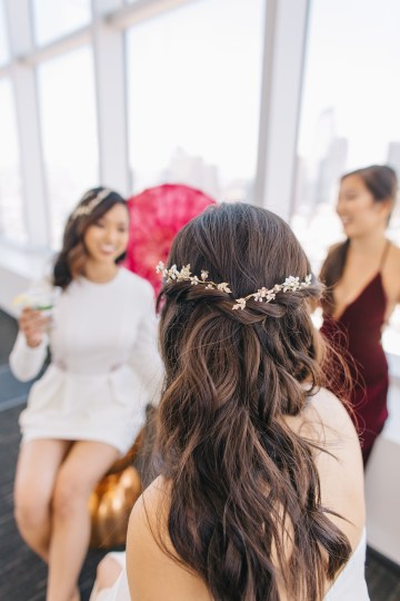 Modern Japanese Inspired Rooftop Wedding Inspiration (With Sushi & Uni, Yum!) | CCL Events | Christine Farah Photography 8