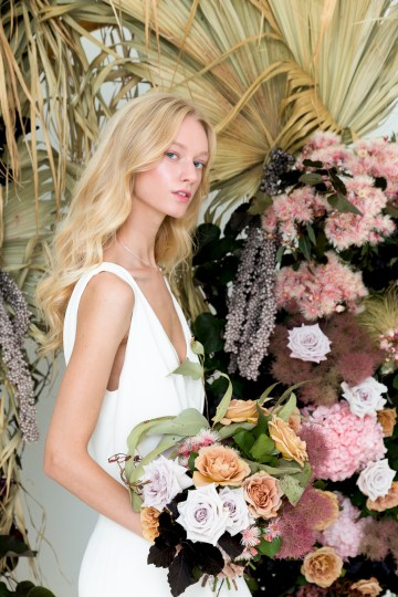 Modern Silk Gowns & Floral Wall Inspiration For The Hip Bride | Anastasia Fua elliftheartist 15