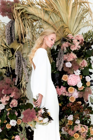 Modern Silk Gowns & Floral Wall Inspiration For The Hip Bride | Anastasia Fua elliftheartist 32