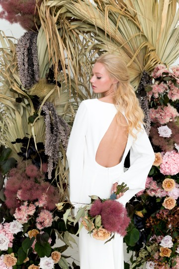 Modern Silk Gowns & Floral Wall Inspiration For The Hip Bride | Anastasia Fua elliftheartist 33