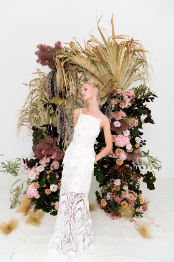 Modern Silk Gowns & Floral Wall Inspiration For The Hip Bride | Anastasia Fua elliftheartist 39