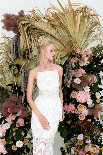 Modern Silk Gowns & Floral Wall Inspiration For The Hip Bride | Anastasia Fua elliftheartist 40