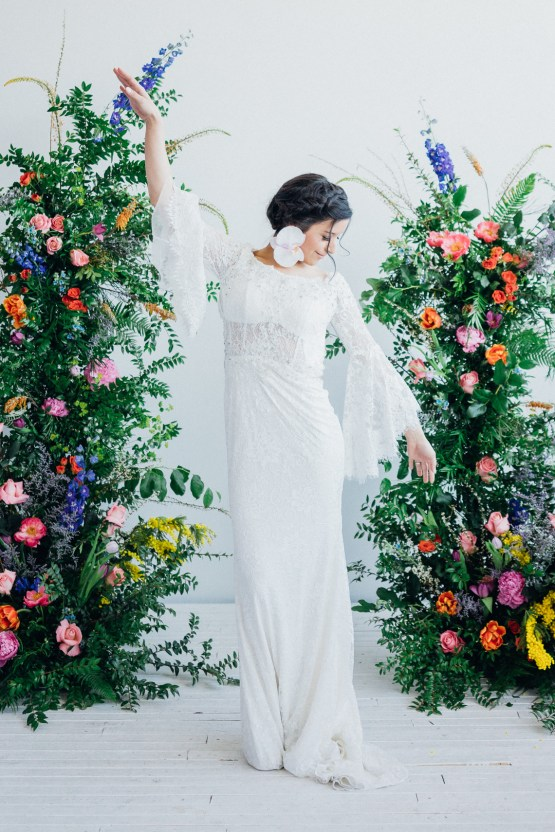 This wedding dress collection will make you a garden goddess bride