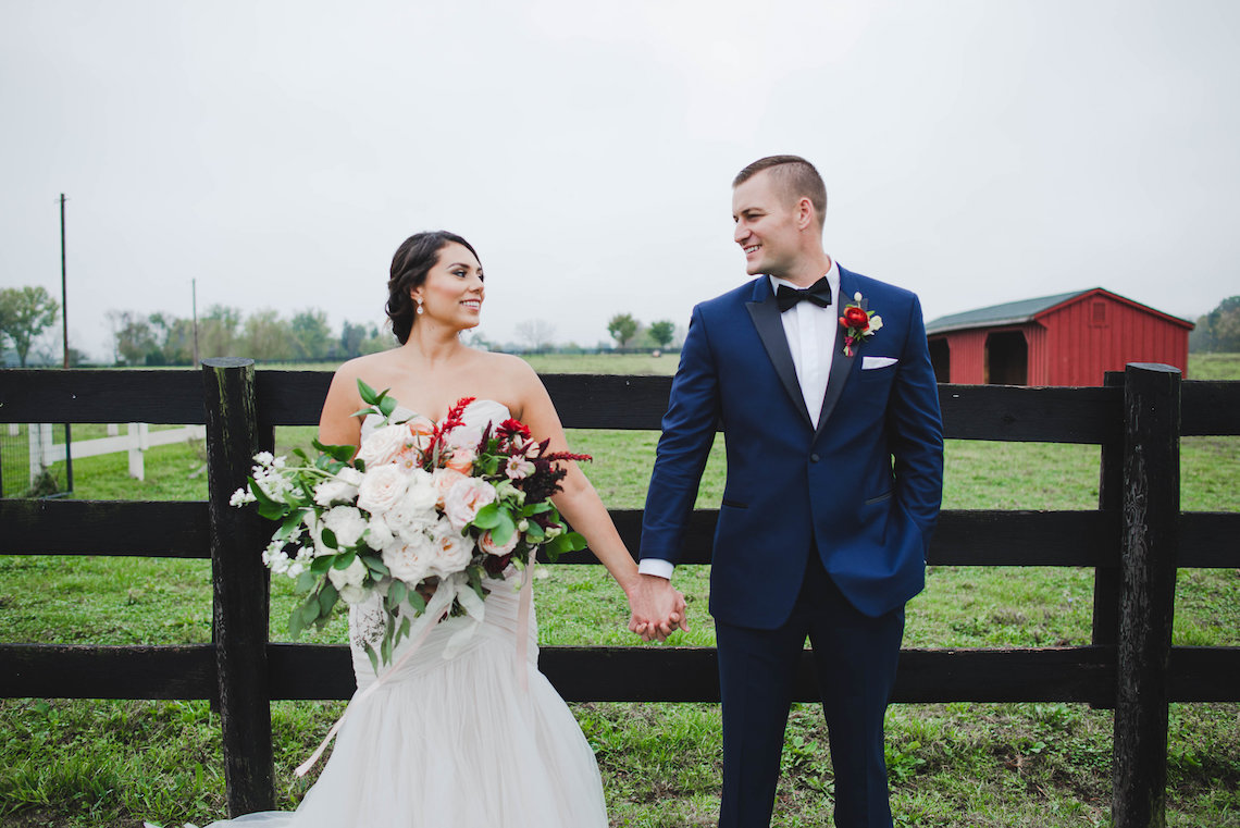 Romance In The Rain; Rustic Barn Wedding Ideas With Dramatic Florals | Flor de Casa Designs 14