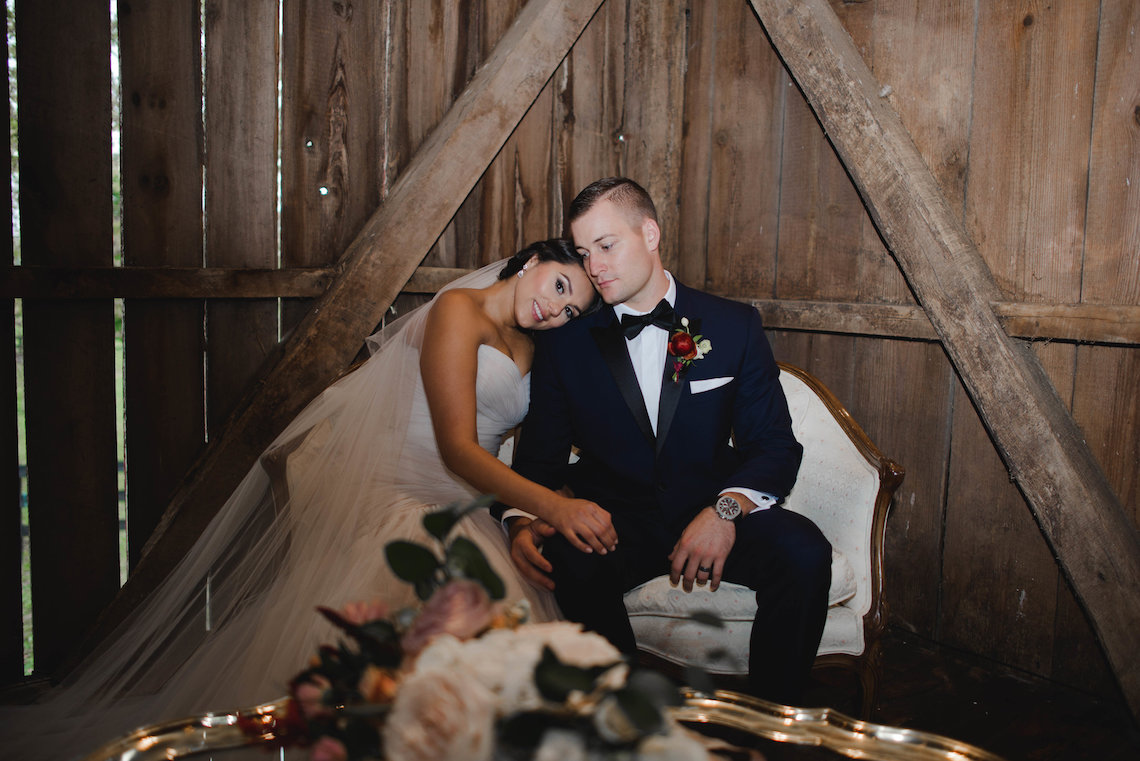 Romance In The Rain; Rustic Barn Wedding Ideas With Dramatic Florals | Flor de Casa Designs 15