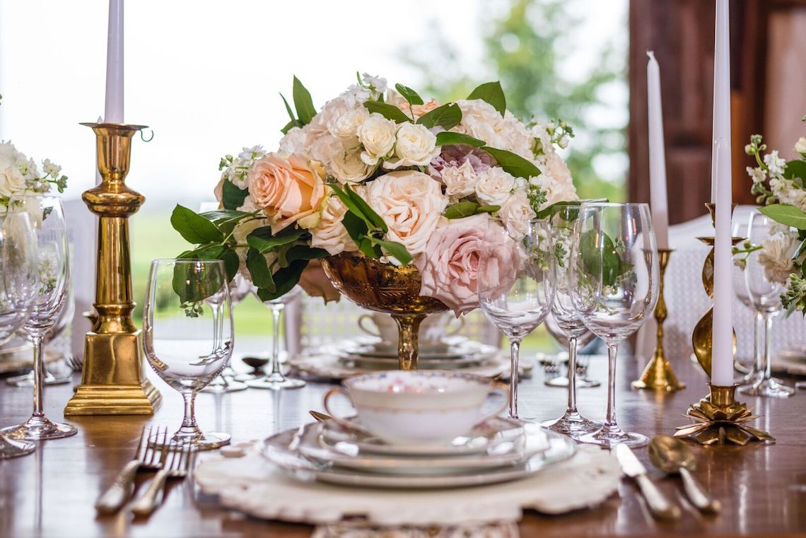 Romance In The Rain; Rustic Barn Wedding Ideas With Dramatic Florals | Flor de Casa Designs 20