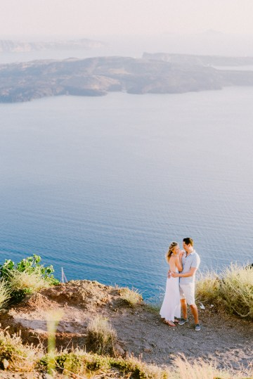 Classy Santorini Destination Wedding (With Amazing Caldera Views!) | Elias Kordelakos 1