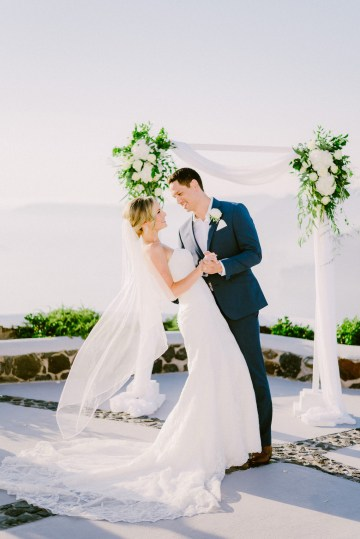 Classy Santorini Destination Wedding (With Amazing Caldera Views!) | Elias Kordelakos 16