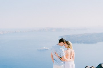Classy Santorini Destination Wedding (With Amazing Caldera Views!) | Elias Kordelakos 35