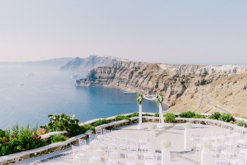 Classy Santorini Destination Wedding (With Amazing Caldera Views!) | Elias Kordelakos 39