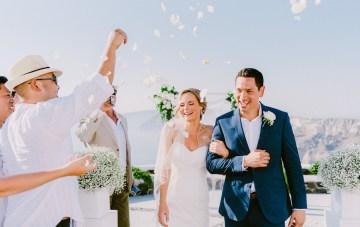 Classy Cliffside Santorini Destination Wedding