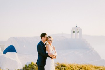 Classy Santorini Destination Wedding (With Amazing Caldera Views!) | Elias Kordelakos 44