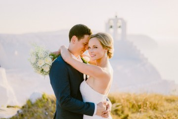 Classy Santorini Destination Wedding (With Amazing Caldera Views!) | Elias Kordelakos 46