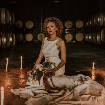 Industrial Cool Meats Winery Warmth; Candlelit Wedding Ideas | The Gifford Collective | Genesis Geiger 48