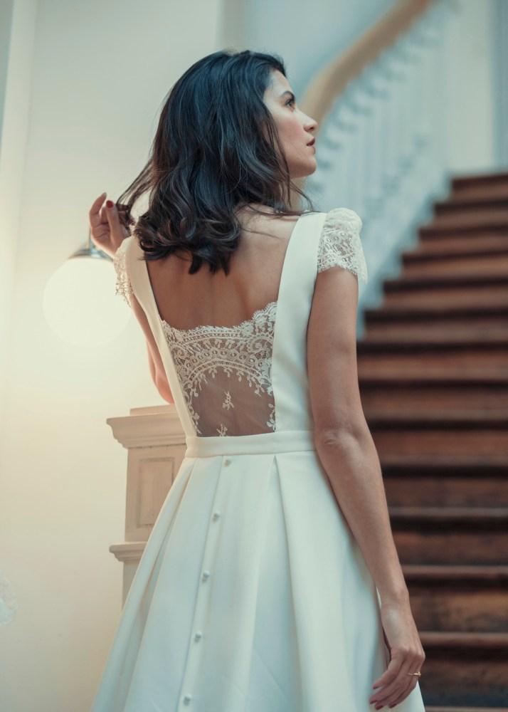 Best Of Bridal Fashion Week  Laure de Sagazan s 2018 Civil Collection Wedding  Dresses c42bfaeeaebc