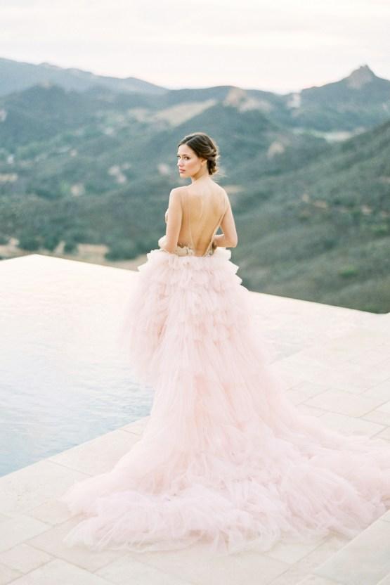 Malibu Wedding Inspiration With A Ruffled Pink Dress | Pura Vida Photography 30
