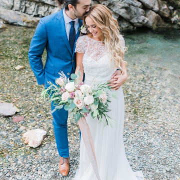 Waterfalls & Watercolors; Dreamy Blue Wedding Ideas | Minted Photography 2