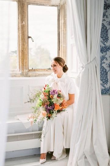 Citrus & Peach Chateau Wedding Inspiration | Lucy Davenport 21
