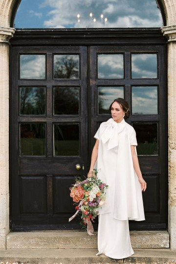 Citrus & Peach Chateau Wedding Inspiration | Lucy Davenport 22